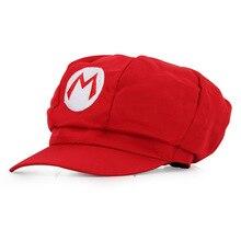 b8a88485acf Anime Super Mario Hat Cap Luigi Bros Cosplay Baseball Costume(China)