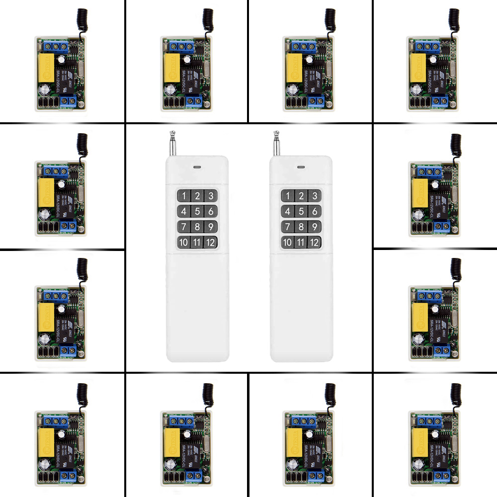3000m Mini Size 220V 1CH 1CH 10A Wireless Remote Control Switch Relay Receiver +2X 12CH Transmitter System ,315 / 433.92 MHz access door control system 12v 1ch wireless remote control switch system transmitter receiver mini size 315 433mhz