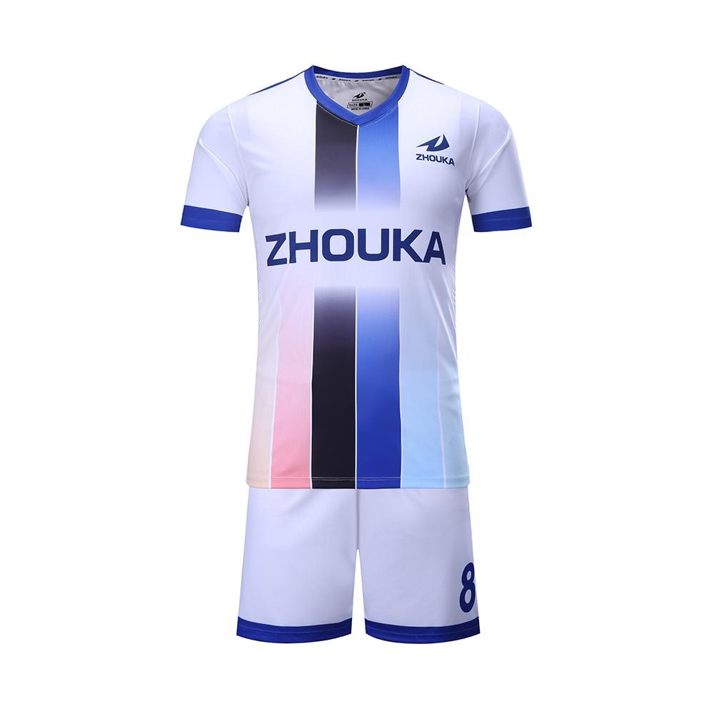 3ff3a1fa2c 2017 2018 novo Costume popular garoto uniforme de futebol DIY qualquer  padrão de camisa de futebol
