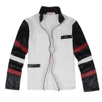 Clásico Bruce Lee abrigo favorito blanco pu completo chaqueta de cuero deporte abrigo ropa el envío libre