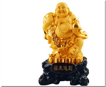Smiling Buddha furnishing articles gold-plated opening gifts moved into new home sitting room adornment household decoration
