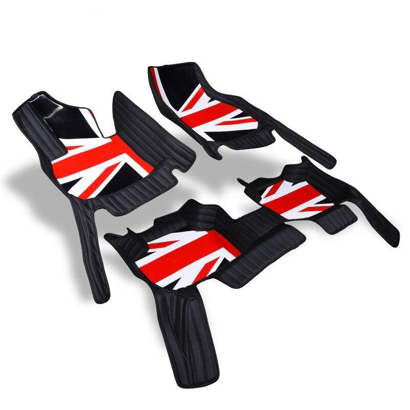 Пользовательские полный Крытая без запаха Водонепроницаемый ковры прочный автомобильные коврики для Mini Cooper Countryman F60 с Union британский флаг