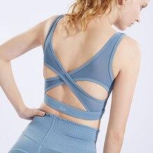 Yoga Soutien-Gorge Femmes Rembourré Sport Soutien-Gorge Exécuter Shake  Preuve Courir Workout Gym 3a992302c99