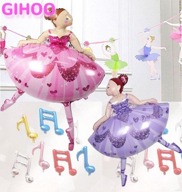 1 Unid 110 80 Cm Sparkles Bailarina Ballet Dancer Foil Globos De