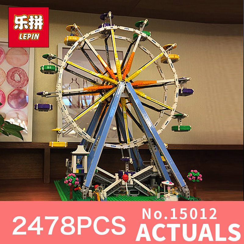 Lepin 15012 City Expert Ferris Wheel Model Building Kits Assembling Block Bricks Compatible with  LegoING 10247 Educational toys dhl lepin 15012 2518 pcs city expert ferris wheel model building kits blocks bricks toys compatible with legoingly 10247