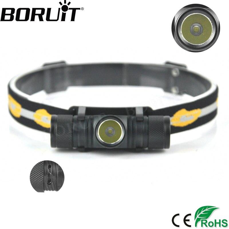 BORUiT 5000LM XM-L2 Led-scheinwerfer Usb-ladeanschluss Radfahren Scheinwerfer 4-modus Dimmen Stirnlampe Camping Angeln Taschenlampe
