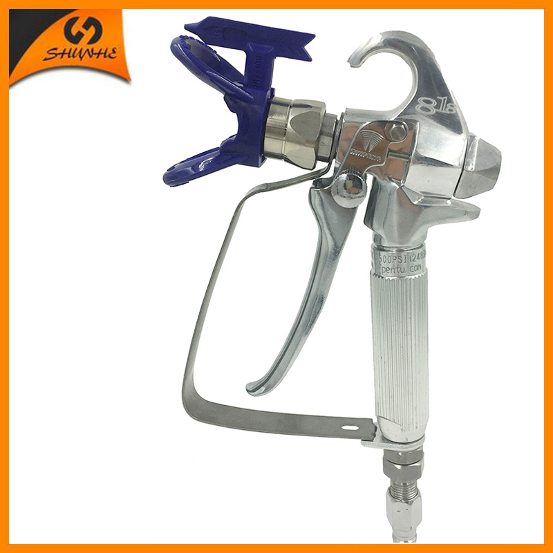 SAT2418 New Arrival Airless Paint Sprayer Spray Tool with Tip Guard Sprayer Tools Standard Nozzle517 Airless Spray Gun Tip Guard цена и фото