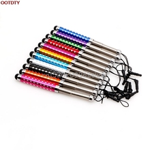 Three Links Retractable Capacitive Stylus Touch Screen Teblet Pen Diamond For Cell Phone #H029#