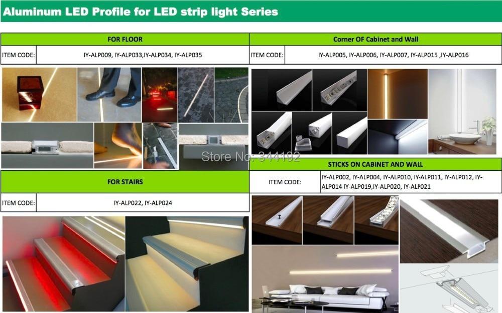 Darmowa Wysyłka 2 m / sztuk 30 sztuk / partia Hot Sprzedam profil - Oświetlenie LED - Zdjęcie 5