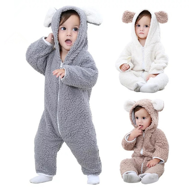 9b6afbd1bf1 (KID STATION) baby boy girls rompers clothes new born baby Cartoon Jumpsuit  warm spring autumn winter animal for boy snowsuit