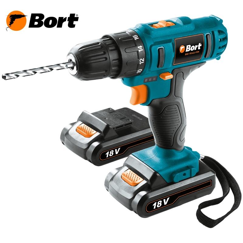 Cordless Drill/Driver Bort BAB-18Ux2Li-FDK