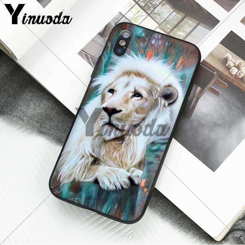 Yinuoda Động Vật King Tiger Và Họa Tiết Sư Tử TPU Mềm Mại Ốp Lưng Điện Thoại Cho Iphone X Xsmax 6 6S 7 7plus 8 8Plus 5 5S XR 11 11pro 11 Promax