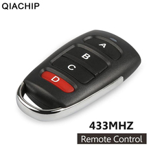 QIACHIP Smart Home Remote Control 433mhz Universal Remote Control Learning Type 4 Buttons Wireless Remote Control For Gates Car