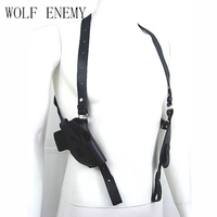 Tactical Army Force Leather Shoulder Pistol Holster For 654K With Magazine Pouch