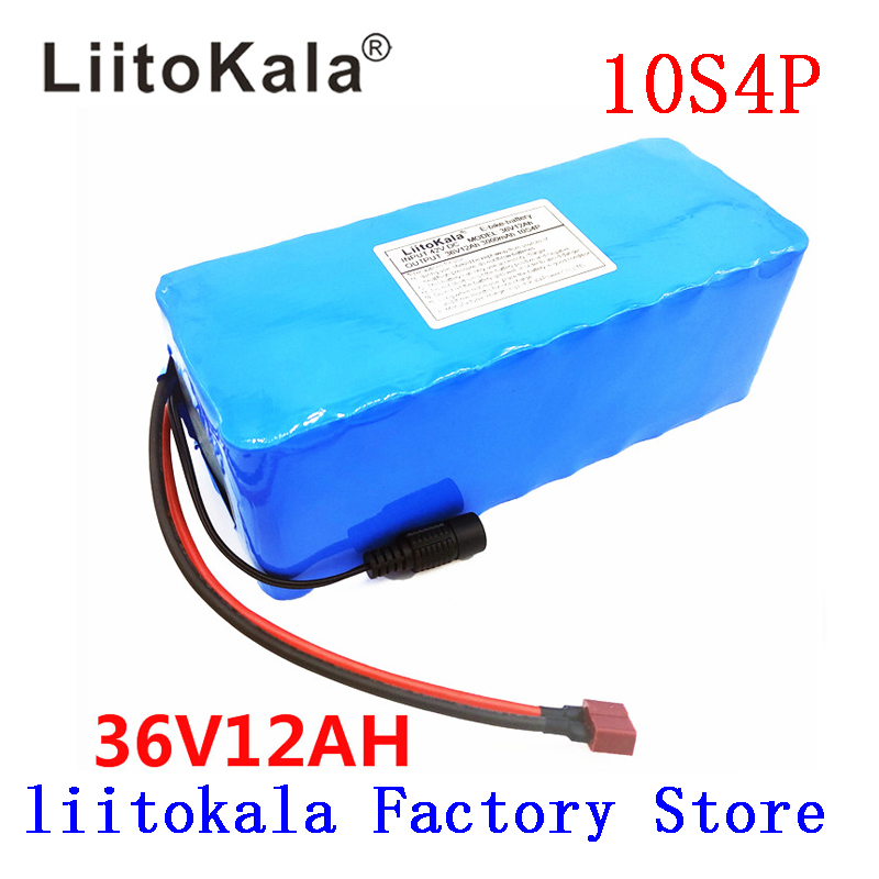 electric bicycle battery pack 18650 Li Ion Battery 10S 4P 36V 12ah 500W High Power and Capacity 42V Motorcycle Scooter with BMS-in Battery Packs from Consumer Electronics