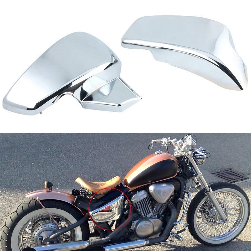 Мотоцикл ABS пластик хромированные боковые батарея Обтекателя крышки для Honda VT600 Вт 600 тень vlx Делюкс 2007