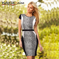 KAIGE .nina  Womens Elegant  fashion Floral Print Summer Casual Party Wear to Work  Sheath Dress 9005