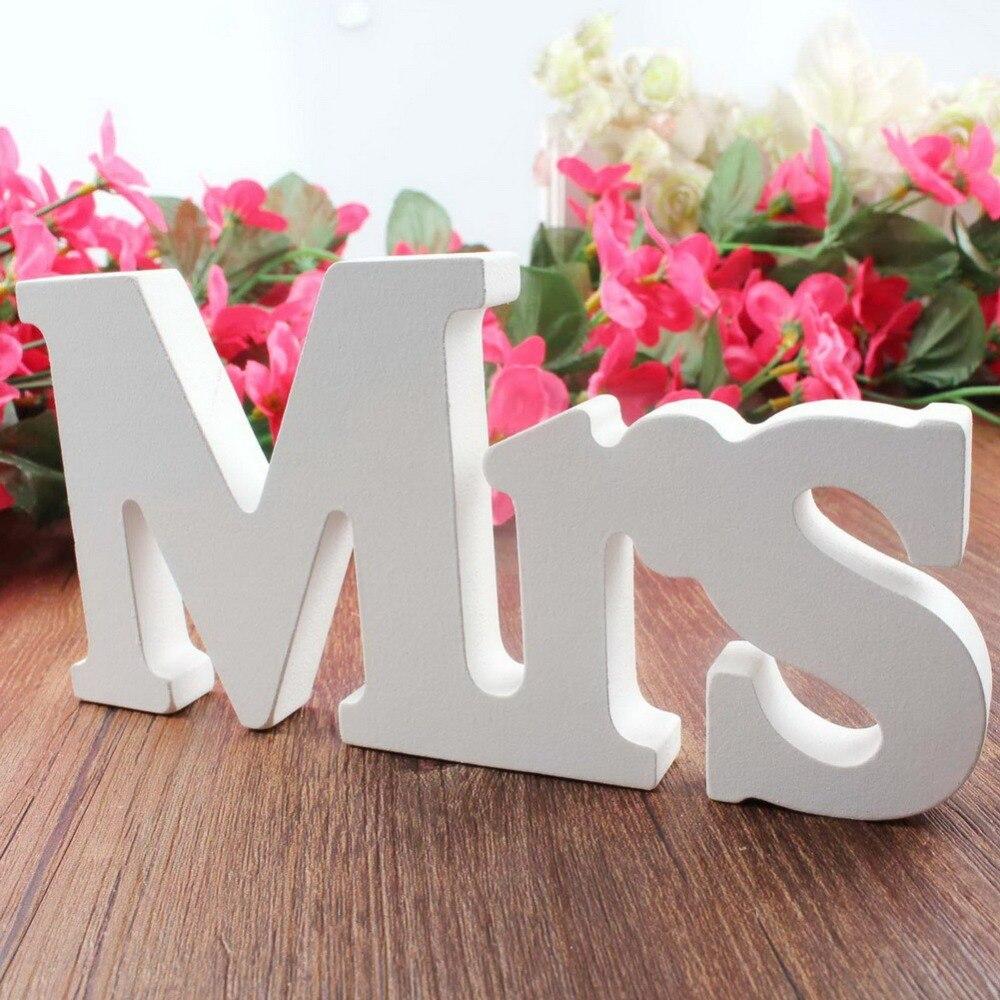 Wedding decorations 3 pcs/set Mr & Mrs romantic mariage decor ...