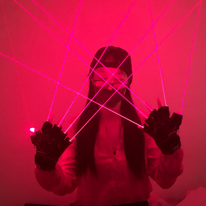Cool Finger - Laser Gloves - Flashlight - for Party - Concert - Clubbing - Wedding - Birthday - Party - Outdoor Night Activities(16)