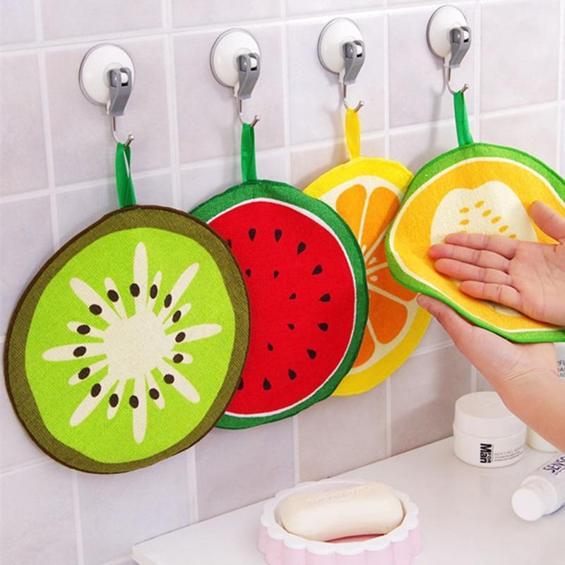 ⑧Nueva 2 piezas colgando Toalla de secado rápido fruta patrón de ...