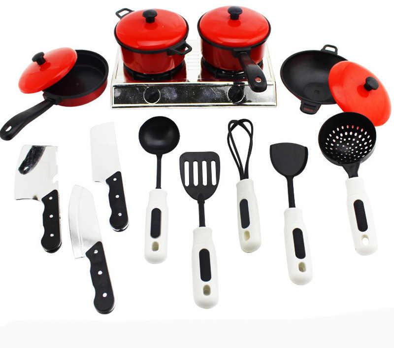 Anak-anak Mini Peralatan Masak Dapur Pot Pan Anak-anak Berpura-pura Memasak Bermain Mainan Simulasi Sayuran Dapur Peralatan Masak Mainan Set Gyh