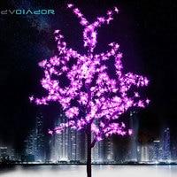 DVOLADOR Xmas LED Cherry Blossom Tree Light 0.8m 1.2m New Year Wedding Luminaria Decorative Tree Branches Lamp Outdoor Lighting