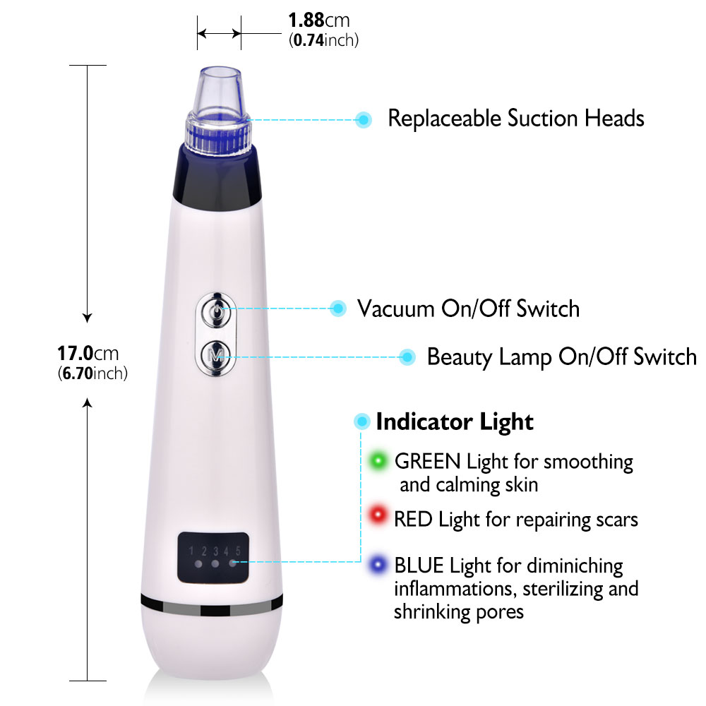 Image 4 - Blackhead Electric Cleanser Removal Face Clean Nose T Zone Pore Vacuum Acne Pimple Vacuum Remover Suction Facial DermabrasionPowered Facial Cleansing Devices   -