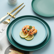 8 10 дюймов Нескользящая керамическая пластина однотонное цветное блюдо для завтрака стейк Западная еда фрукты для дома отель кофе магазин торт магазин