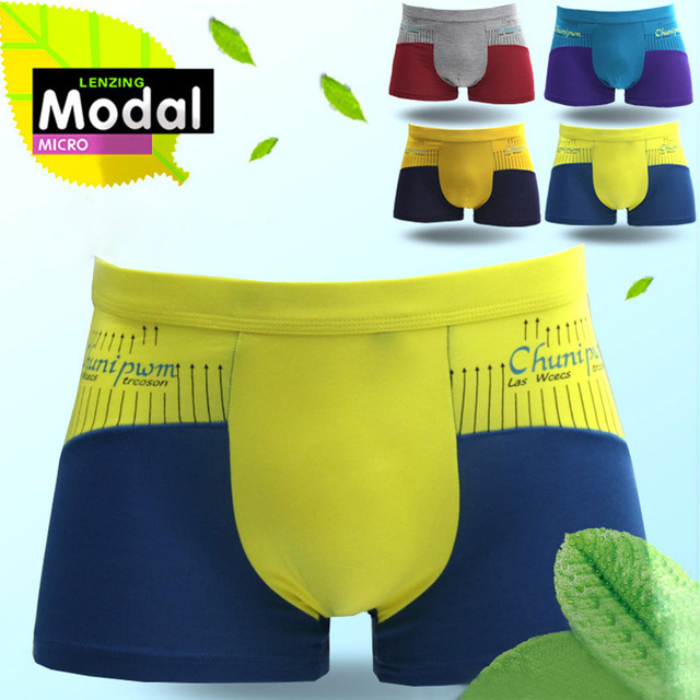 letter pants flat angle underwear European and American men 's underwear
