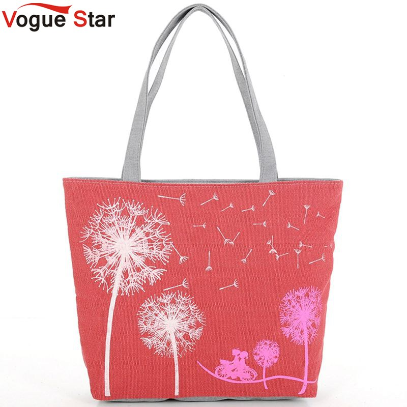 Vogue Star Sale New 2017 Fashion Dandelion Canvas Bag Flowers Women Handbag Shoulder Bags Women Messenger Bags Bolsas  YK40-789