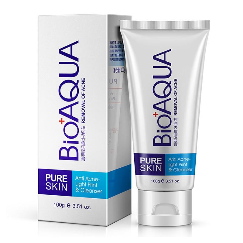Acne Treatment Facial Cleanser Black Head Remove Oil-control Deep Cleansing Foam Shrink Pores HS11