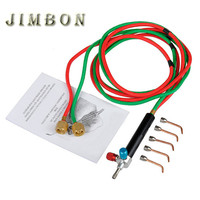 Mini Gas Welding Torch For Oxygen Acetylene With 5 Tips Used In Jewelry Tools And Dental
