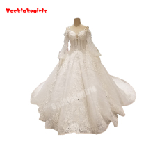 Backlakegirls Vintage Ball Gowns Wedding Dress Long Train