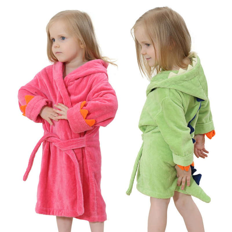 High quality childrens bathrobe Retail Baby boy girl soft velvet robe pajamas coral children dress baby clothes for 0-4 years ...