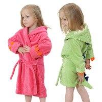 Yüksek kaliteli çocuk bornoz Perakende Bebek erkek kız yumuşak kadife bornoz pijama mercan için çocuk elbise bebek giysileri 0-4 yıl