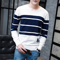 M-3XL Sweater Men 2016 Autumn Winter  Striped Sweater New Style V Neck Long Sleeve Slim Fitpullover Man Sweaters  S871