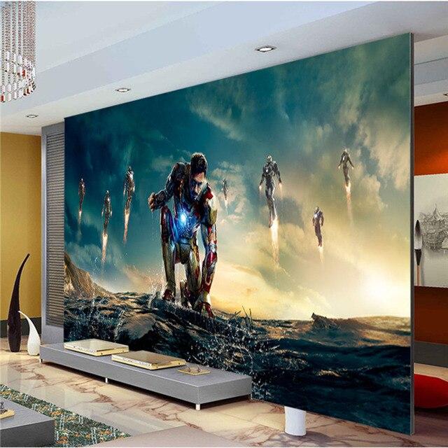 Iron Man Photo Wallpaper Avengers Wallpaper Custom Large Super hero Wall  Mural Art Room decor Ceiling. Iron Man Photo Wallpaper Avengers Wallpaper Custom Large Super