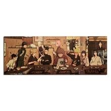 Постер Naruto популярный классический японский аниме домашний декор Шелковый плакат картина Печать настенный Декор 70*27 см