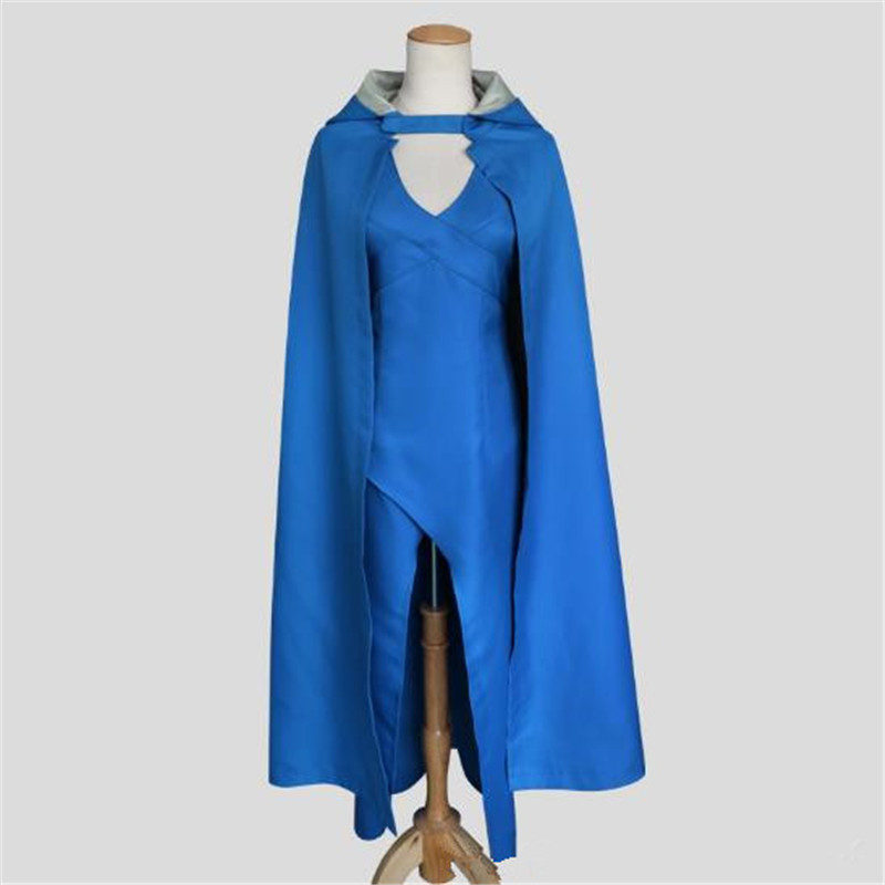 Role Playing Game of Thrones Sexy Costume Daniel Liz Tangerian Blue Set Party Halloween Women Clothing Free Shipping