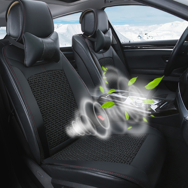 Summer Cool Cooling Car Seat Cushion Cover Ventilation Fan Air Conditioning General Passat