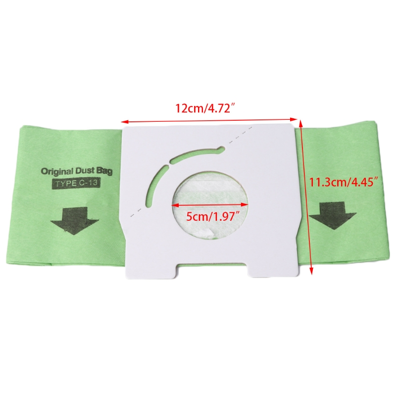 Universal Disposable Paper Dust Bag C 13 Replacement For Vacuum Cleaner MC CA291 in Vacuum Cleaner Parts from Home Appliances