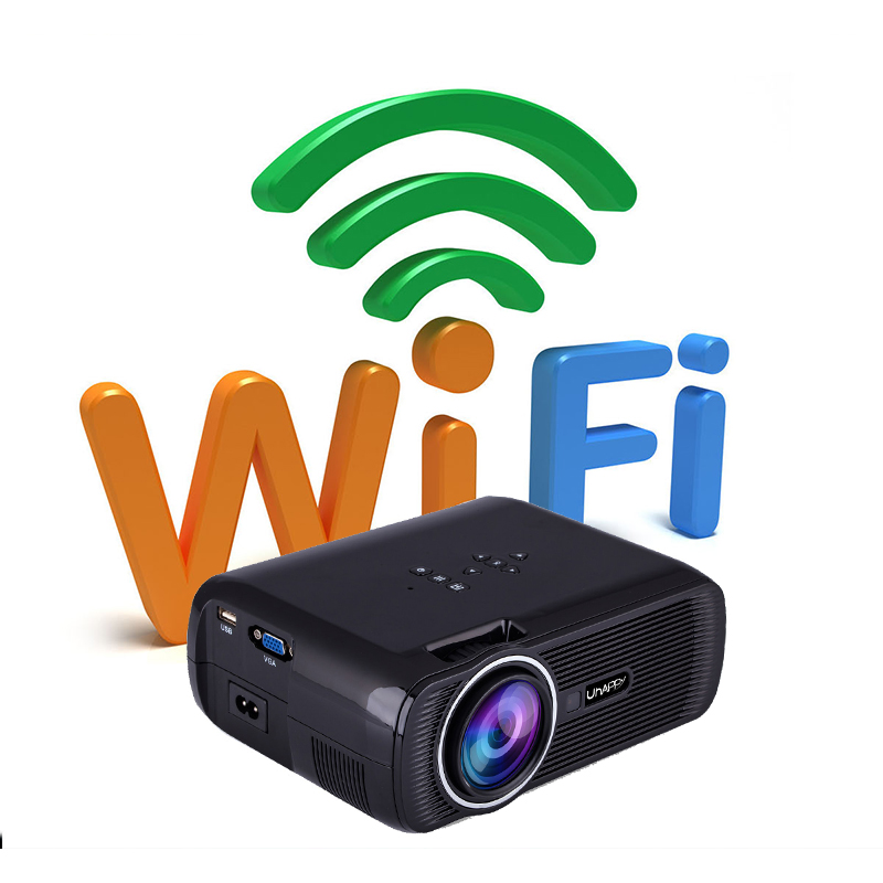 UHAPPY U80 PRO Projector 1080P LED HD Mini Projector Supports 4 Types Plug Choose EU/UK/US/AU for ANDROID 4.4 System & WIFI