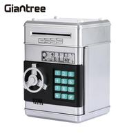 Security Box Password Home Safety Secret Case Box ATM Piggy Save Box Coin Eating Saving Silvery