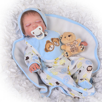 Simulation Asleep Baby Boy 50 cm Soft Silicone Reborn Dolls Babies Real Like 20'' New Born Baby Dolls Toy For Kids Palymates