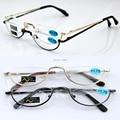 Agstum Half Rimless Eyeglasses Spring hinge Vintage Retro Round Reading Glasses Reader +1 +1.5  +1.75 +2 +3 +4