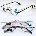 Agstum Meia Óculos Sem Aro dobradiça de Mola Do Vintage Retro Rodada Óculos de Leitura Leitor + 1 + 1.5 + 1.75 + 2 + 3 + 4