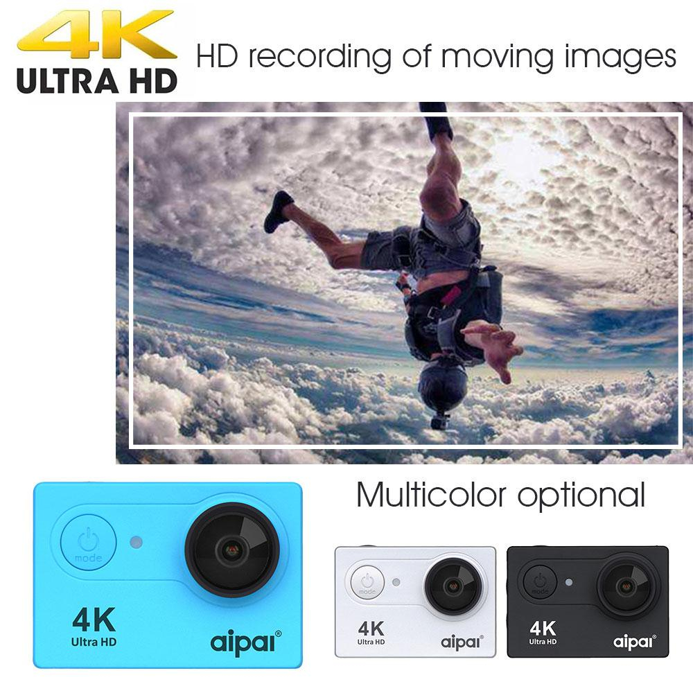 Aipal H9R Sport Action Camera with Ultra HD 4K 8.0MP 170 Degree Wide Angle 1080P 60FPS WiFi 2.0 LCD Waterproof DV Recorder Video цена