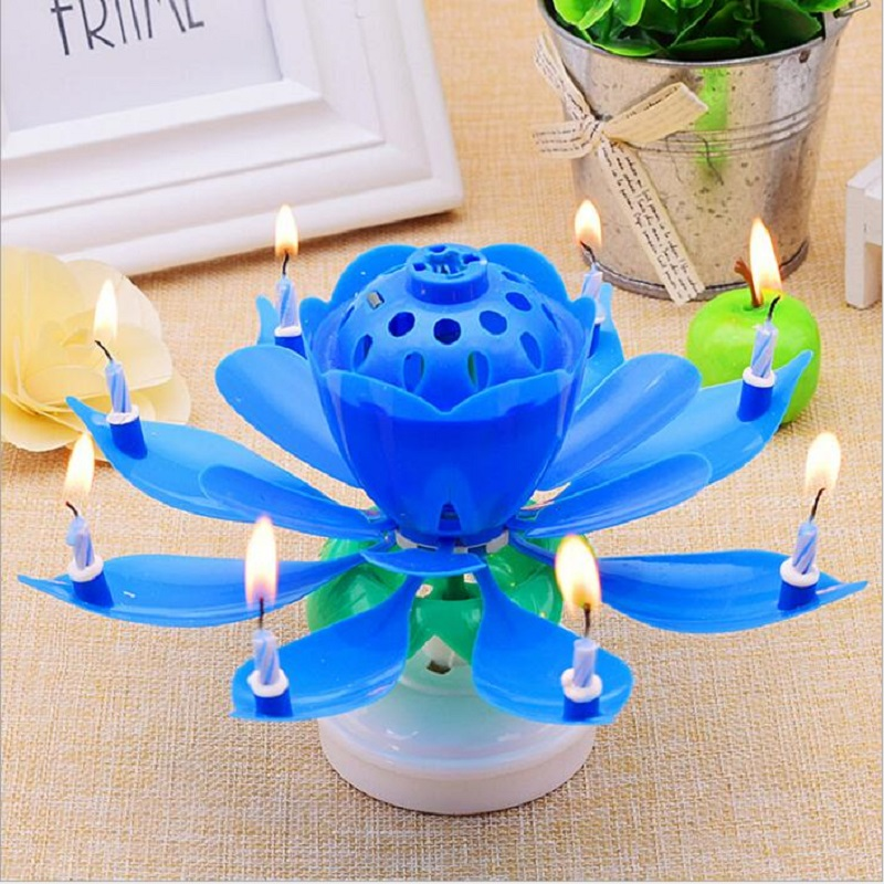 7 Parttens Vela de cumpleaños electrónica Art Candle Doble capa - Para fiestas y celebraciones - foto 5