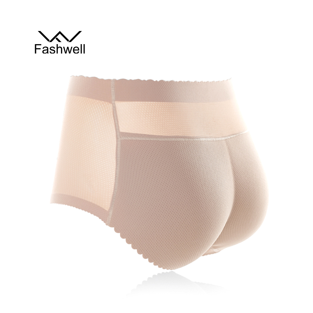 One-piece Seamless Panties Trousers Pants Fill Buttocks Body Shaper underwear Women's High waist Panties butt lift shape