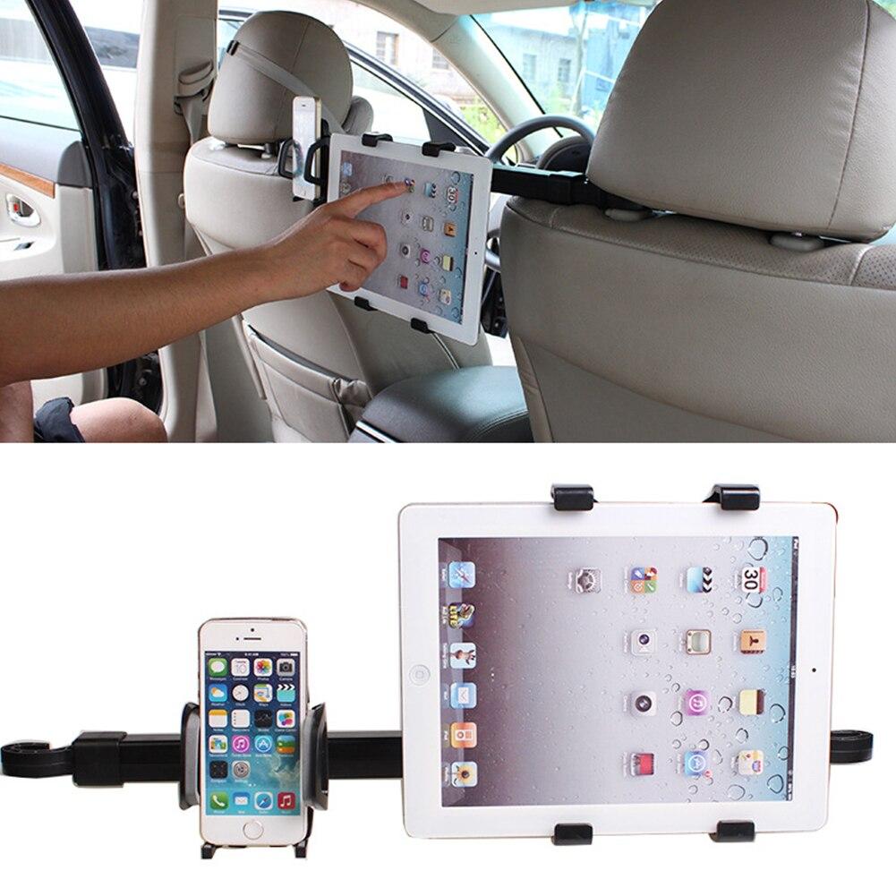 bilder für 2 in 1 Universal Auto Rücksitz Kopfstütze Halterung Stehen Halterung tablet ständer kit 7-10 zoll für iphone6 samsung für ipad 4 air